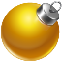 Ball, Christmas, Orange Icon