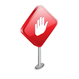 Sign, Stop Icon
