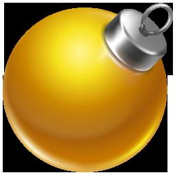 Ball, Christmas, Orange Icon