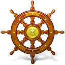 Navigate, Pirate, Ship, Wheel Icon