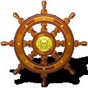 Navigate, Pirate, Ship, Wheel Icon