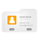 Bond, Contact, James, Vcard Icon