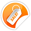 Orange, Sale Icon