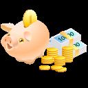 Bank, Cash, Coins, Money, Pig, Piggy, Safe Icon