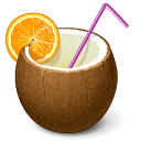 Cocktail, Coconut, Drink Icon