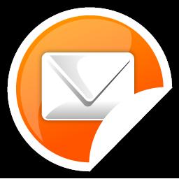 Mail, Orange Icon