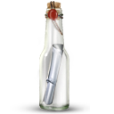 Bottle, Message Icon