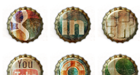 Old Bottle Crowns Icons
