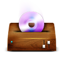 Cd, Dvd, Itunes, Wooden Icon