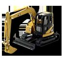 Cr, Excavator Icon