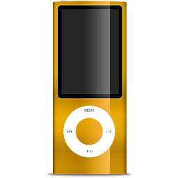 Ipod, Nano, Orange Icon