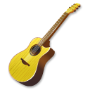 Guitar, Yellow Icon