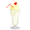 Food, Milkshake, Vanilla Icon