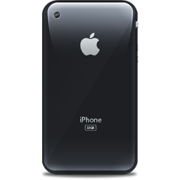 Apple, Black, Iphone, Retro Icon