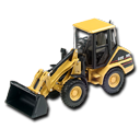 Compact, Loader, Wheel Icon