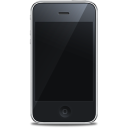 Apple, Black, Front, Iphone Icon