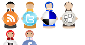 Social Bookmarking Characters Icons