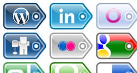 Social Media Price Tags Icons