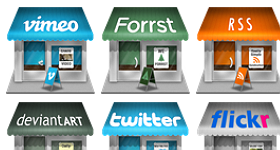 Social Store Icons