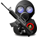 Gas, Soldier, Weapon, With Icon