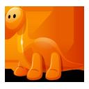 Dino, Orange Icon