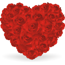Heart, Of, Roses Icon
