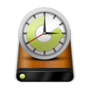 Drive, Machine, Time, Wood Icon