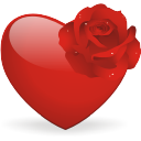 And, Heart, Rose Icon