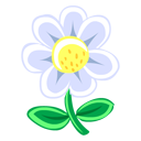 Flower, White Icon