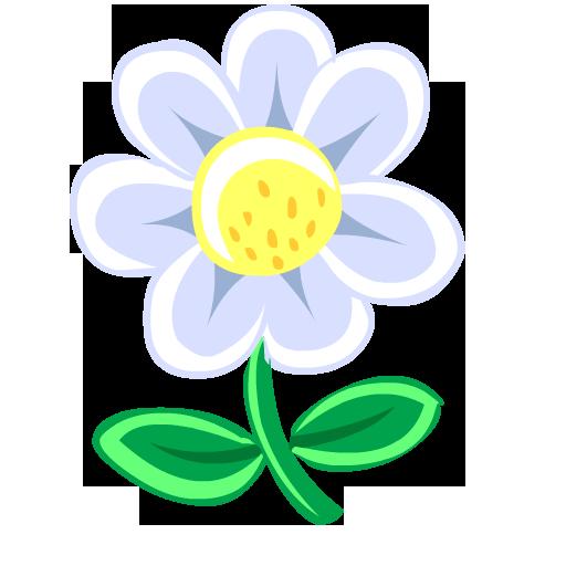 Flower, White Icon
