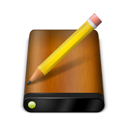 Drive, Pencil, Wood Icon