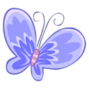 Blue, Butterfly Icon