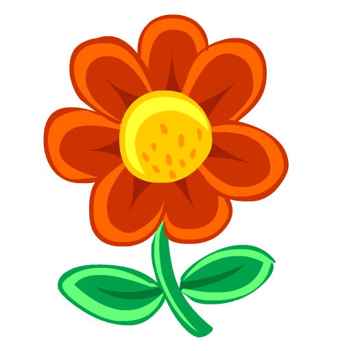 Flower, Red Icon