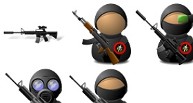 Elite Soldiers Weapons Icons
