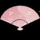 Fan, Pink Icon