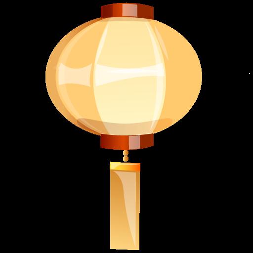 Lamp, Yellow Icon
