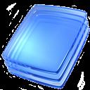 Blue, Glass Icon