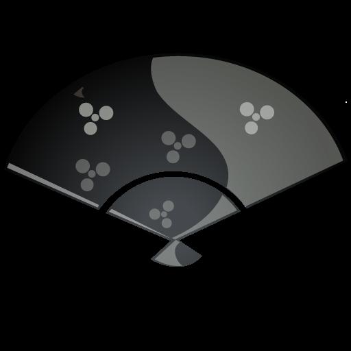 Black, Fan Icon