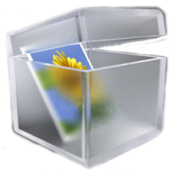 Box, Glass, Pictures Icon