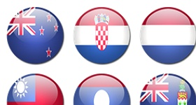 Rounded World Flags Icons