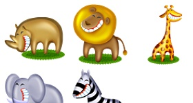 African Pets Icons