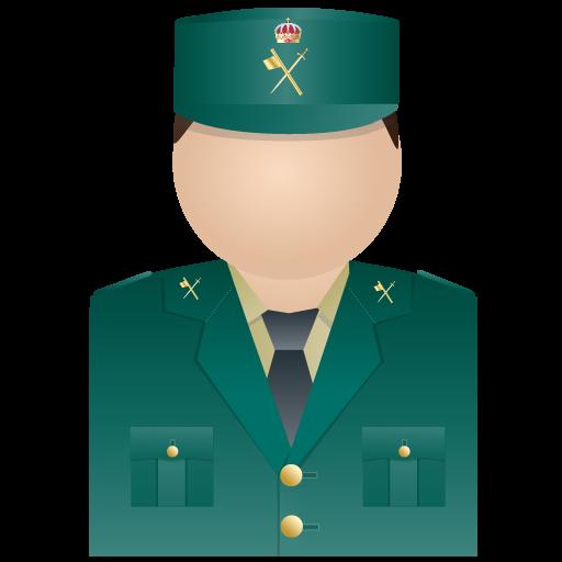 Civil, Guardia, Uniform Icon
