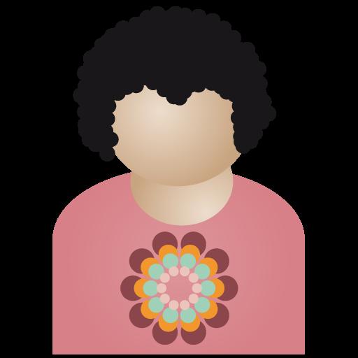 Afro, Flower, Man Icon