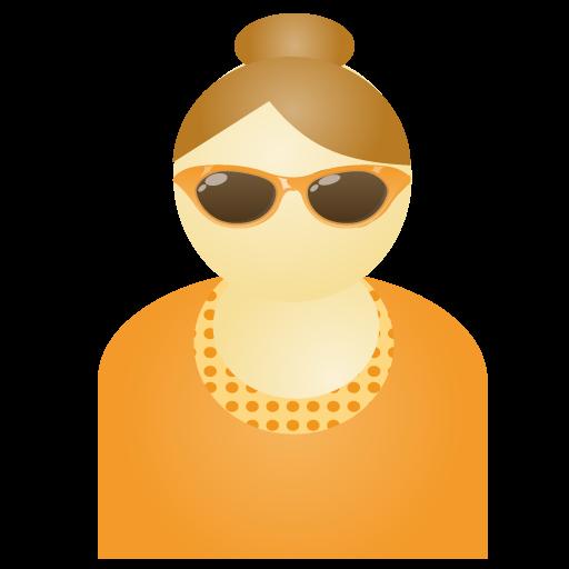 Orange, Sunglass, Woman Icon