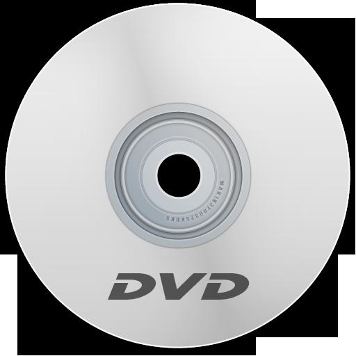 Dvd, White Icon