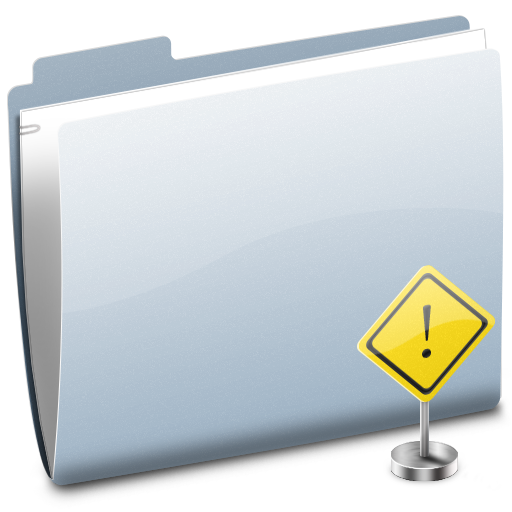 Folder, Sign, Stop Icon