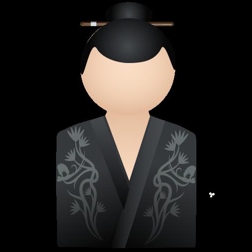 Black, Kimono, Women Icon