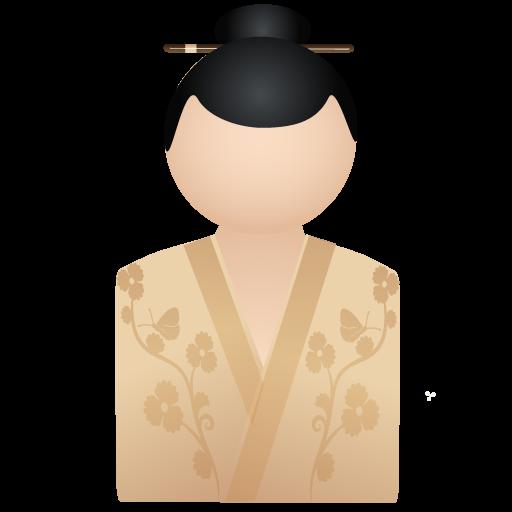 Beige, Kimono, Women Icon