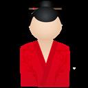 Kimono, Red, Women Icon