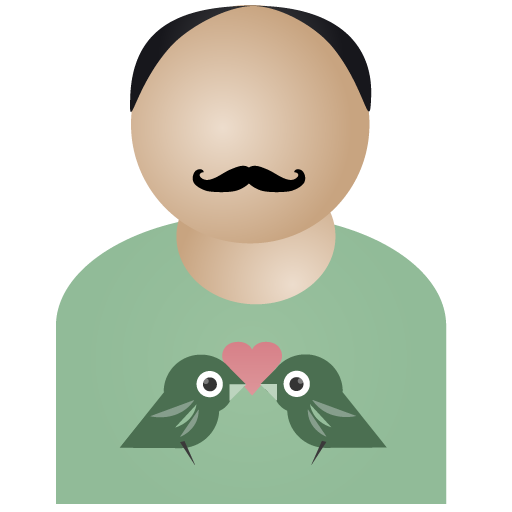 Afro, Birds, Man Icon
